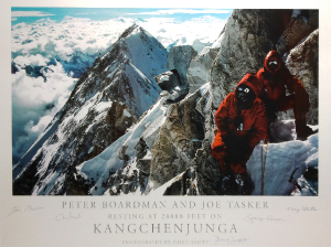 Signed mountaineering print up for auction